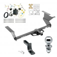 """Trailer Tow Hitch For 17-18 Toyota Yaris iA 16 Scion iA Complete Package w/ Wiring Draw Bar and 2"""" Ball"""