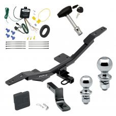 """Trailer Tow Hitch For 09-19 Audi A4 4 Dr. Sedan Deluxe Package Wiring 2"""" and 1-7/8"""" Ball and Lock"""