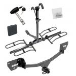 Trailer Tow Hitch For 17-19 Chevy Cruze Hatchback Platform Style 2 Bike Rack w/ Hitch Lock and Cover