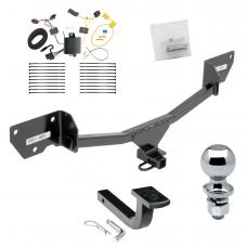"""Trailer Tow Hitch For 17-19 Chevy Cruze Hatchback Complete Package w/ Wiring Draw Bar and 2"""" Ball"""