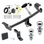 """Trailer Tow Hitch For 2016 Toyota iM 17-18 Corolla iM Deluxe Package Wiring 2"""" and 1-7/8"""" Ball and Lock"""