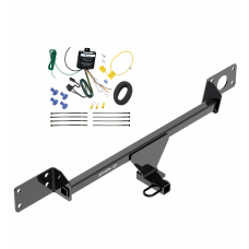 Trailer Hitch Tow Receiver w/ Wiring Harness Kit For 15-21 Mercedes-Benz C300 Sedan Except Models w/Sport Package