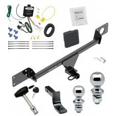 """Trailer Tow Hitch For 15-21 Mercedes-Benz C300 Sedan Except Sport Package Deluxe Package Wiring 2"""" and 1-7/8"""" Ball and Lock"""