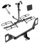 Trailer Tow Hitch For 16-19 Honda Civic Except w/Center Exhaust Platform Style 2 Bike Rack w/ Hitch Lock and Cover