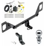 """Trailer Tow Hitch For 2016 Honda Civic Coupe Except w/Center Exhaust Complete Package w/ Wiring Draw Bar and 2"""" Ball"""