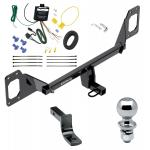 """Trailer Tow Hitch For 16-19 Honda Civic Coupe Hatchback Except w/Center Exhaust Complete Package w/ Wiring Draw Bar and 2"""" Ball"""