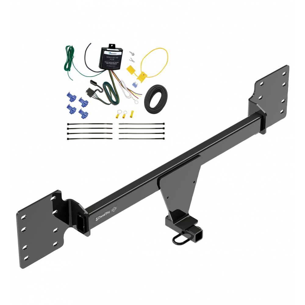 Trailer Hitch Tow Receiver W   Wiring Harness Kit For 12