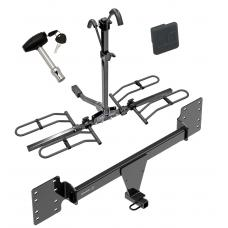Trailer Tow Hitch For 12-19 Tesla S Platform Style 2 Bike Rack w/ Hitch Lock and Cover