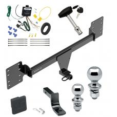 """Trailer Tow Hitch For 12-19 Tesla S Deluxe Package Wiring 2"""" and 1-7/8"""" Ball and Lock"""