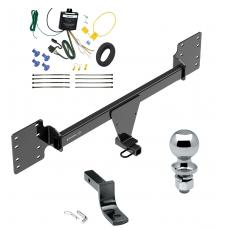 """Trailer Tow Hitch For 12-19 Tesla S Complete Package w/ Wiring Draw Bar and 2"""" Ball"""