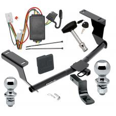 """Trailer Tow Hitch For 13-15 Subaru XV Crosstrek Deluxe Package Wiring 2"""" and 1-7/8"""" Ball and Lock"""