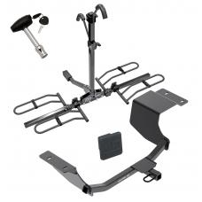 Trailer Tow Hitch For 11-19 Ford Fiesta 5 Dr. Hatchback Platform Style 2 Bike Rack w/ Hitch Lock and Cover