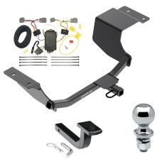 """Trailer Tow Hitch For 11-13 Ford Fiesta 5 Dr. Hatchback Complete Package w/ Wiring Draw Bar and 2"""" Ball"""