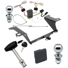 """Trailer Tow Hitch For 11-20 KIA Optima Deluxe Package Wiring 2"""" and 1-7/8"""" Ball and Lock"""