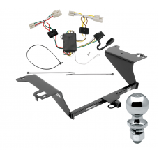 """Trailer Tow Hitch For 11-20 KIA Optima Complete Package w/ Wiring Draw Bar and 2"""" Ball"""