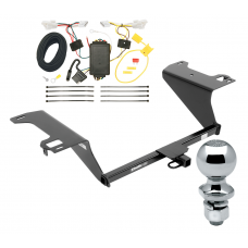"Trailer Tow Hitch For 11-14 Hyundai Sonata Except Hybrid Complete Package w/ Wiring Draw Bar and 2"" Ball"