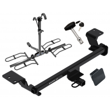 Trailer Tow Hitch For 10-15 Toyota Prius 12-17 Prius V Platform Style 2 Bike Rack w/ Hitch Lock and Cover