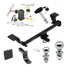 "Trailer Tow Hitch For 10-15 Toyota Prius Deluxe Package Wiring 2"" and 1-7/8"" Ball and Lock"