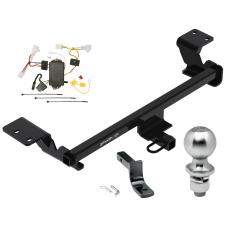 "Trailer Tow Hitch For 10-15 Toyota Prius Complete Package w/ Wiring Draw Bar Kit and 2"" Ball"