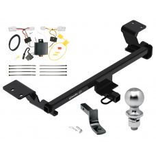 "Trailer Tow Hitch For 12-17 Prius V Complete Package w/ Wiring Draw Bar Kit and 2"" Ball"