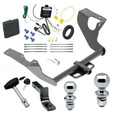 """Trailer Tow Hitch For 15-20 Subaru WRX STI Deluxe Package Wiring 2"""" and 1-7/8"""" Ball and Lock"""