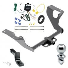 """Trailer Tow Hitch For 15-20 Subaru WRX STI Complete Package w/ Wiring Draw Bar and 2"""" Ball"""