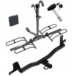 Trailer Tow Hitch For 12-20 Toyota Prius C Platform Style 2 Bike Rack w/ Hitch Lock and Cover