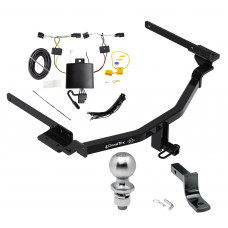 "Trailer Tow Hitch For 18-20 KIA Stinger Complete Package w/ Wiring Draw Bar Kit and 2"" Ball"