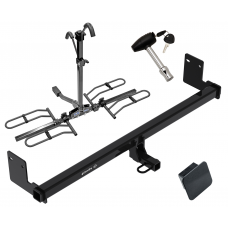 Trailer Tow Hitch For 18 Hyundai Kona Platform Style 2 Bike Rack w/ Hitch Lock and Cover