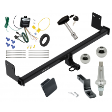 "Trailer Tow Hitch For 18 Hyundai Kona Ultimate Package w/ Wiring Draw Bar Kit Interchange 2"" 1-7/8"" Ball Lock and Cover"