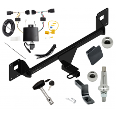 "Trailer Tow Hitch For 19 Volkswagen Jetta Ultimate Package w/ Wiring Draw Bar Kit Interchange 2"" 1-7/8"" Ball Lock and Cover"