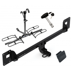 Trailer Tow Hitch For 18-19 Volkswagen GTI Platform Style 2 Bike Rack w/ Hitch Lock and Cover