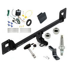 """Trailer Tow Hitch For 18-19 Volkswagen GTI Ultimate Package w/ Wiring Draw Bar Kit Interchangeable 2"""" 1-7/8"""" Balls Lock and Cover"""