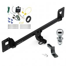 """Trailer Tow Hitch For 18-20 Volkswagen GTI 18-19 VW e-Golf Complete Package w/ Wiring Draw Bar and 2"""" Ball"""