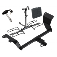 Trailer Tow Hitch For 18-19 Nissan Kicks Platform Style 2 Bike Rack w/ Hitch Lock and Cover