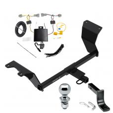 """Trailer Tow Hitch For 18-19 Nissan Kicks Complete Package w/ Wiring Draw Bar and 2"""" Ball"""
