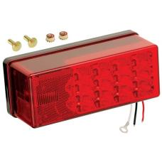 Wesbar Waterproof Trailer Taillight 8-Function Left/Roadside LED Over 80in 3x8 Low Profile Driver Side
