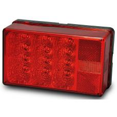 Wesbar LED Waterproof Trailer Taillight 7-Function Right/Curbside w/3 Wire Pigtail Red Lens Passenger Side