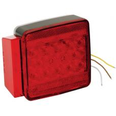 Wesbar LED Trailer Taillight 7-Function Submersible Under 80in Left/Roadside Boat Light