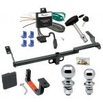 """Trailer Tow Hitch For 04-06 Scion xB Deluxe Package Wiring 2"""" and 1-7/8"""" Ball and Lock"""