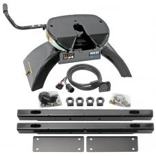 Reese Elite Rails 18K 5th Wheel Hitch for 02-12  Dodge Ram 1500 2500 3500 Except Mega Cab with 7-Way Wiring Installation Kit Under-Bed Fifth Wheel Trailer Hitch