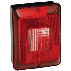 Bargman Trailer Single Taillight Vertical Mount w/ Backup 86 Series w/ Black Base RV