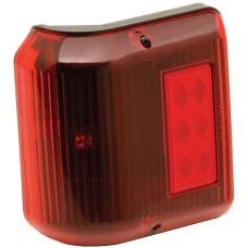 Bargman Trailer Wraparound Clearance/Side Marker Light 86 Series Red w/ Black Base RV