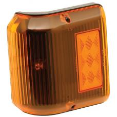 Bargman Trailer Wraparound Clearance/Side Marker Light 86 Series Amber w/ Black Base RV