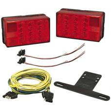 Bargman Complete LED Trailer Taillight Kit 4x6 Low Profile