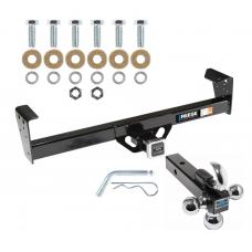 "Reese Trailer Tow Hitch Receiver For 94-97 Honda Passport 91-97 Isuzu Rodeo w/Tri-Ball Triple Ball 1-7/8"" 2"" 2-5/16"""