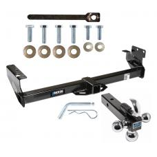 "Reese Trailer Tow Hitch Receiver For 96-99 Acura SLX 92-02 Isuzu Trooper w/Tri-Ball Triple Ball 1-7/8"" 2"" 2-5/16"""