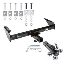 "Reese Trailer Tow Hitch Receiver For 63-91 Chevy GMC C/K Series 63-74 Ford F-100 F-250 F-350 International w/Tri-Ball Triple Ball 1-7/8"" 2"" 2-5/16"""