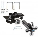 "Reese Trailer Tow Hitch Receiver For 07-09 Chrysler Aspen 04-09 Dodge Durango w/Tri-Ball Triple Ball 1-7/8"" 2"" 2-5/16"""