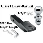 "Class 1 Drawbar kit w/ 1-7/8"" Trailer Hitch Ball 5/8"" Rise 1-1/4"" Receiver Mount"